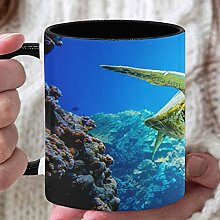 11 Unzen Teebecher Flexible Schildkröte im blauen