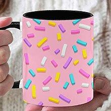 11 Unzen Teebecher Süße bunte Konfetti besprüht