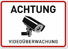11 x Aufkleber Videoüberwachung - A6 (14,8 x 10,5