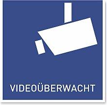 11 x Aufkleber Videoüberwachung | DIN Sticker