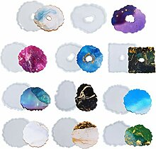 11 x Epoxidharzformen, Untersetzer, Kunstharz,