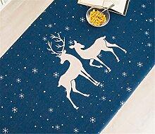110*110cm blau Rentier schneeflocke Skandinavisch Instagram Tischdecken Baumwolle leinen Esstisch Rezeption rechteckigen quadrat nicht bügeln umweltfreundlich Tischtuch