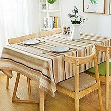 110* 170cm braun khaki Streifen skandinavischen Mediterrane Instagram Esstisch Tuch Baumwolle Leinen Garten Picknick rechteckig quadratisch Umweltfreundlich,