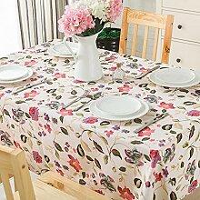 110* 170cm pink floral Leaf Cottage Instagram Tisch Tuch Baumwolle Leinen Esstisch Garten Picknick quadratisch, rechteckig Umweltfreundlich,