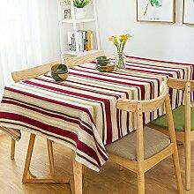 110* 170cm rot khaki Streifen skandinavischen Mediterrane Instagram Esstisch Tuch Baumwolle Leinen Garten Picknick rechteckig quadratisch Umweltfreundlich,