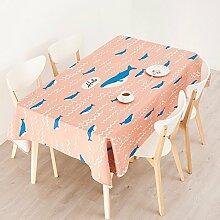 110*170cm Rosa blau Wal Modern popart Instagram Tischdecken Baumwolle leinen Esstisch rechteckigen quadrat nicht bügeln umweltfreundlich Tischtuch