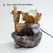110-220 V harz haus mini brunnen Feng Shui LED