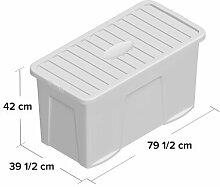 110 L Kunststoff-Aufbewahrungsbox Wayfair Basics
