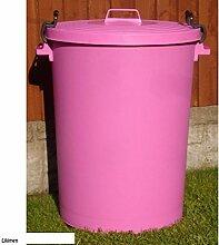110Liter pink Garden House Abfalltonne Mülleimer Abfalleimer Tasche Recycle