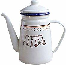 1100 ml Emaille-Teekanne für den Außenbereich,