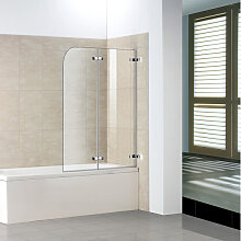 110cm Badewanne 2-tlg. Faltwand duschabtrennung