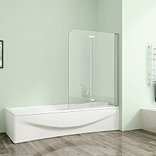 110x140cm Duschabtrennung Badewannenaufsatz