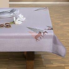 110x160 braun Tischdecke Weihnachten Hirsch
