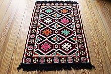 110x70 cm Orientalischer Teppich , Kelim,Kilim ,Carpet ,Bodenmatte ,Bodenbelag ,Rug,Wandteppich, Neu aus Damaskunst S 1-2-6