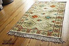 110x70 cm Orientalischer Teppich , Kelim,Kilim ,Carpet ,Bodenmatte ,Bodenbelag ,Rug,Wandteppich, Neu aus Damaskunst S 1-2-10