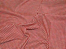 114.30 cm breit, Stoff, Gingham-Muster, Baumwolle, Meterware, Ro