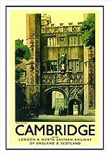 114 Cambridge-Eisenbahn Seaside Classic Oldschool Best Color für A3 Bilderrahmen, Vintage-Poster