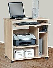 1169 - Computertisch auf Rollen, in sonoma Eiche