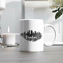 11oz Ceramic Coffee Mug, Houston City Skyline