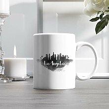 11oz Ceramic Coffee Mug, Los Angeles City Skyline