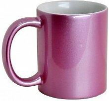 11oz Glitzer pink Keramik Sublimation Becher für Sublimation Heiz bedrucken
