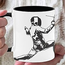 11oz Kaffeetassen Fechten Athleten auf dem Feld