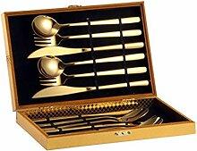 12.06 / 18pcs Gold-Geschirr Set 304 Edelstahl