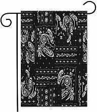 12,5 'x 18' Garten Flagge Aquarell Paisley