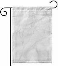 12,5 'x 18' Garten Flagge grau weiß