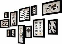12 Bilderrahmen-Set, Fotorahmen, Wandrahmen-Set