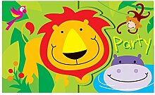 12 Boys Girls Kids Childrens Birthday Party Invitations Card with Envelopes- Jungle Theme Zoo by Concept4u