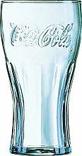 12 Coca Cola Gläser Glas Konturgläser Konturglas