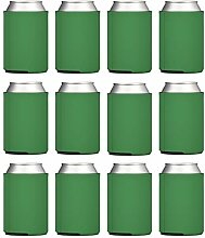 12 Dosenhüllen – Kelly Green Blanko Bierkühler