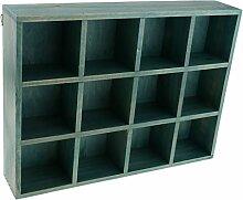 12 Fächer Wandregal Aufbewahrungsbox Kasten