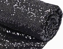 12 Feet 4 Yards Black Sequin Fabric By the Yard Sequin Fabric Tablecloth Linen Sequin Tablecloth Table Runner by ShinyBeauty