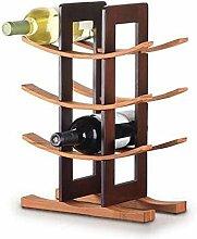 12 Flaschenbar Wine Rack Holz Bambus Küche Essen
