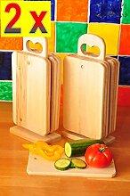 12 Grill Küchenbrett groß Set MIT 2x STÄNDER, Holz NATUR - 14-tlg. Set, je ca. 22 cm x 14 cm, als Servier-/ Grillbrettchen, Grill-Schneidebrettchen, Universal-Küchenbrett, Holzbrettchen, als Bruschetta-Servierbrett, Brotzeitbrett mit Griff, Naturholz - Birke unbehandelt, Grillbrettchen, Bayerisches Brotzeitbrettl,NEU Massive Grill-Schneidebretter, Anrichtebretter, Grillbretter, Brotzeitbretter, Steakteller schinkenbrett rustikal, Schinkenteller