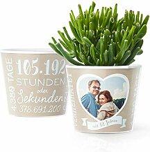 12. Hochzeitstag Geschenk – Blumentopf (ø16cm)