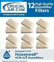 12HONEYWELL hcm-525Luftbefeuchter Ersatz Docht Filter, vergleichen, um Teil # D13C, ac-813, ac813, AC 813, d13-c, D13C, T 13C, T 13, d-13, entworfen und hergestellt von Crucial Air