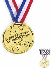 12Kinder Olympic Gold Gewinner Medaillen Party Spiele Tasche Preise Geschenke