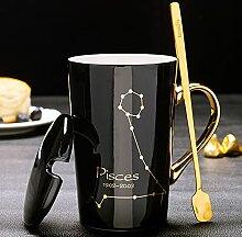 12 Konstellationen Becher Keramik Kaffeetassen