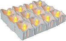 12 LED Kerzen, GTQC LED Flammenlose Tealights,