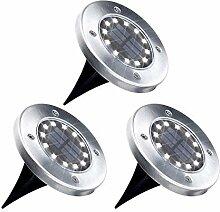 12 LED Solar Bodenleuchten Aussen Solarleuchte