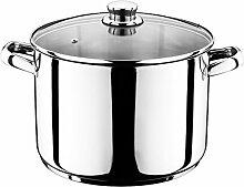 12 Liter Universal Kochtopf mit Glasdeckel