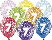 12 Luftballons 30 cm zum 7. Geburtstag - Kindergeburtstag Ballon - Kleenes Traumhandel®