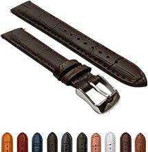 12mmladies echtes Leder Mock Croc Armbanduhr
