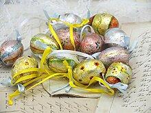12 Ostereier Ostern Deko Dekoration Tischdeko Frühling