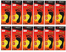 12 Paar Fußsohlenwärmer 'Heat Feet'