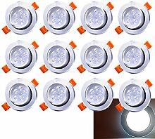 12 Pack 5W LED Einbaustrahler Schwenkbar Kaltweiß