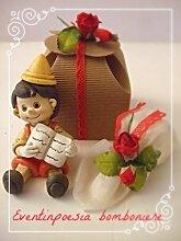 12Spardosen Pinocchio verpackt Bomboniere Taufe Kommunion